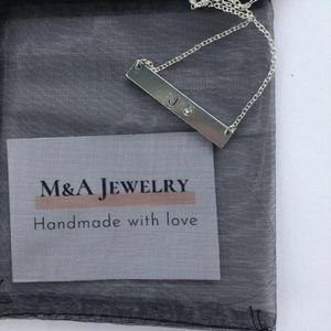 Jewelry - Monogram/initials handmade metal stamped necklace